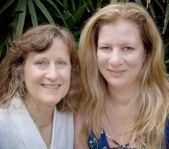 Carol & Carrie on Bench Close Up Cropped 244 x 216