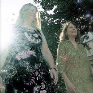Carol & Carrie Walking in Garden-Flipped 315 x 315