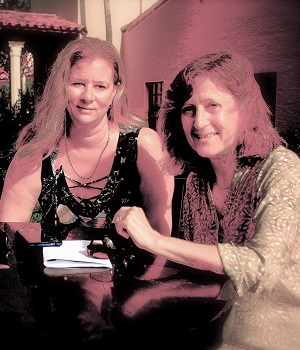 Carol & Carrie Sitting at Table- 300 x 350